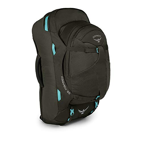 Osprey Packs Fairview 55 Women's Travel Backpack, Misty Grey, Small/Medium