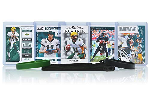 - Carson Wentz Football Cards Assorted (5) Bundle - Philadelphia Eagles Trading Cards