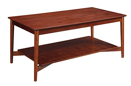 Convenience Concepts Savannah Collection Coffee Table, Mahogany - Savannah Storage Cocktail