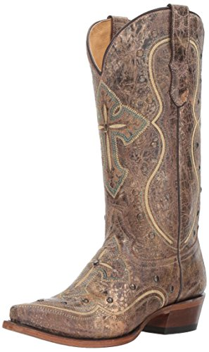 mujer Boot Pure Western Brown Roper para qHAXwxwE
