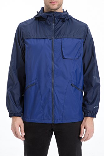 Trailside Supply Co. Men's Waterproof Front Zip Hooded Rain Jacket
