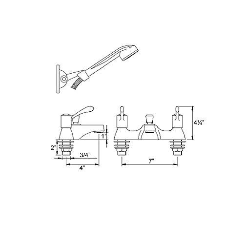 Deck Mounted Bath Shower Mixer - 1