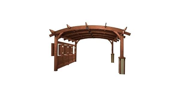 The Outdoor GreatRoom Company 16 X 16 Sonoma Arco pergola de Madera con Entramado para Techo y Pared de privacidad – Acabado Mocha: Amazon.es: Jardín