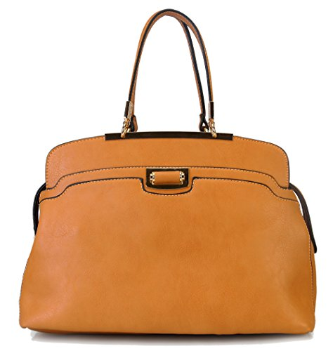rimen-co-simplicity-turn-lock-2-divided-compartment-satchel-handbag-bl-1811-cml