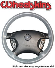 (Wheelskins Universal Size AXX Original One Color Genuine Leather Steering Wheel Covers)