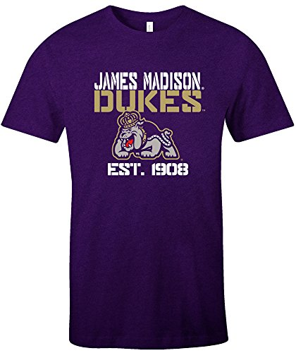 NCAA James Madison Dukes Est Stack Jersey Short Sleeve T-Shirt, Purple,X-Large