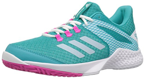 adidas Women's Adizero Club 2 Tennis Shoe, Hi-Res Aqua/White/Shock Pink, 7.5 M US