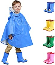 Caopixxzful Kids Rain Boots for Girls Boys Rubber Prints Rainboots Non-Slip Mud Boots (3-9Y)