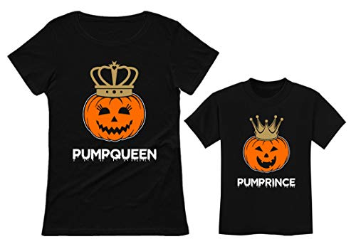 Mom & Son Jack O' Lantern Halloween PumpQueen