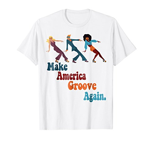 Mens MAGA Make America Groove Again 1970s Disco Dancers T Shirt 3XL (Disco Shirts Mens)