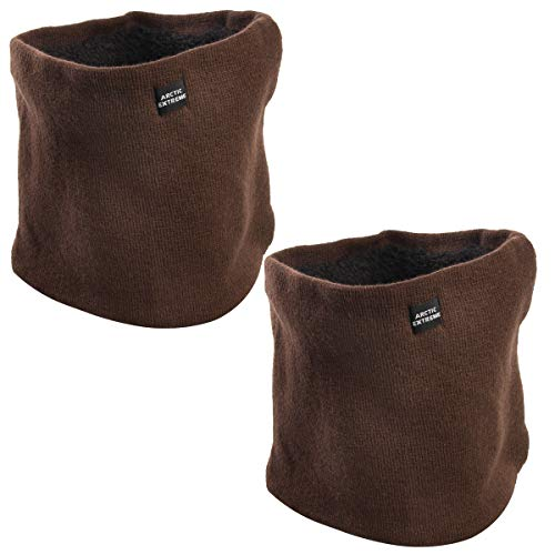 Arctic (2 Pack) Thick Heat Trapping Thermal Neck Warmers, Neck Gaiter Set Fleece Unisex