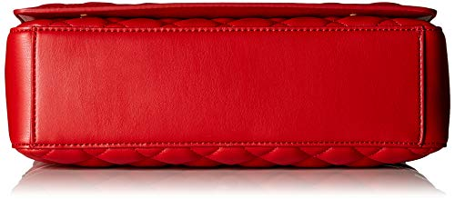 Red Women��s Pu Satchel Love Borsa Rosso Quilted Nappa Moschino 5wwHqO0