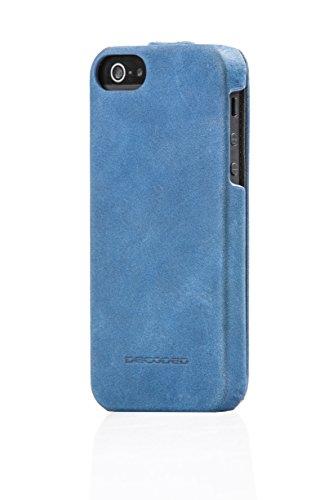 Decoded D3IPO5FC2CE Étui de protection à rabat en cuir pour Apple iPhone 5/5S Bleu
