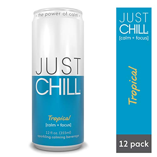 Just Chill Stress Relief Calming & Relaxing - Original Tropical Flavor - 12 oz Can (Pack of 12)