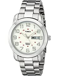 Timex Mens T2N437 Highland Street Silver-Tone Stainless Steel Bracelet Watch