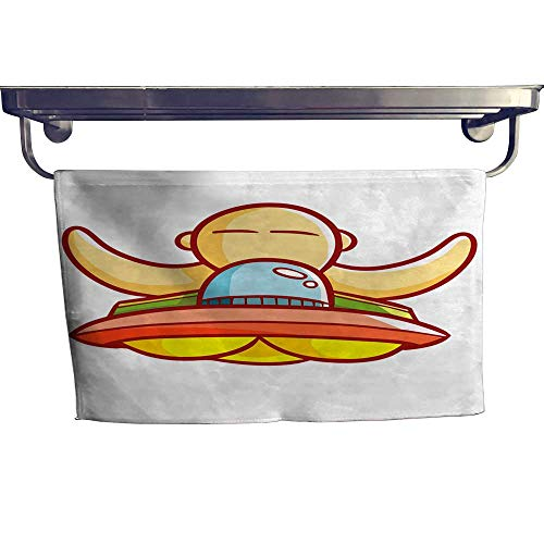 Pool Gym Towels UFO with Artificial Giant Human on it Towel W 12