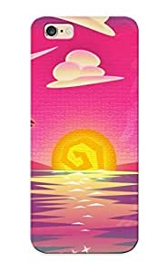 Hot Tpu Cover Case For Iphone/ 6 Plus Case Cover Skin Design - Sunset At Sea