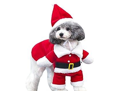 OVVO Ropa para Mascotas Navidad Trajes de Papá Noel Traje ...