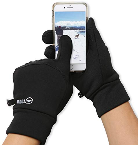 Touch Screen Running Gloves for Men & Women - Thermal Winter Glove Liners for Texting, Cycling & Driving (Poor Circulation In Fingers In Cold Weather)