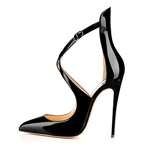 MERUMOTE - Zapatos de vestir de Material Sintético para mujer Schwarz-Lack