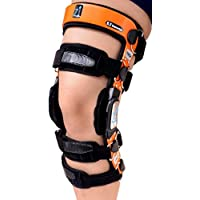 Z1 K2 Knee Brace –Best Knee Brace for ACL/Ligament Injuries/Sports Injuries, Arthritis (OA) & Preventive Protection & Relief from Knee Joint Pain/Degeneration- Men & Women S17(T=22-23.5