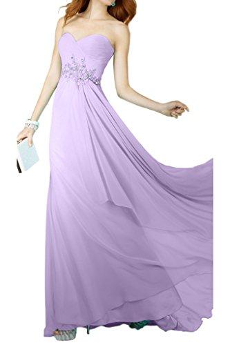 D'onore Vestito Dell'impero Lungo Chiffon Lilla Avril Della Sera Spalline Vestito Elegante Damigella Del Senza Da 70ZwqtnO