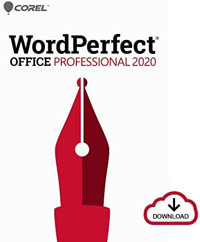 Corel WordPerfect Office 2020 Professional | Word Processor, Spreadsheets, Presentations, Paradox Database Management Documents, Letters, Contracts, Pleading papers, eBooks [PC Download] [Old Version]