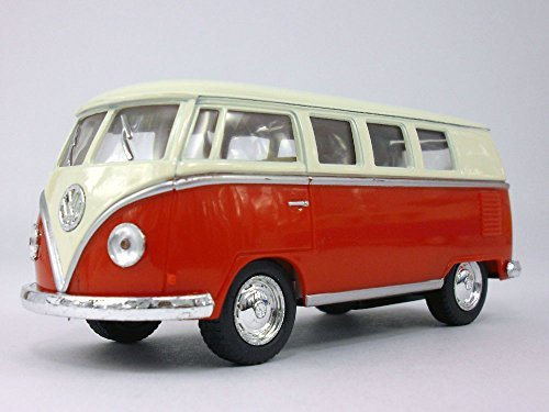 KiNSMART Volkswagen - VW T1 (Type 2) Bus 1/32 Scale Diecast & Plastic Model - RED (Bus Volkswagen Truck)