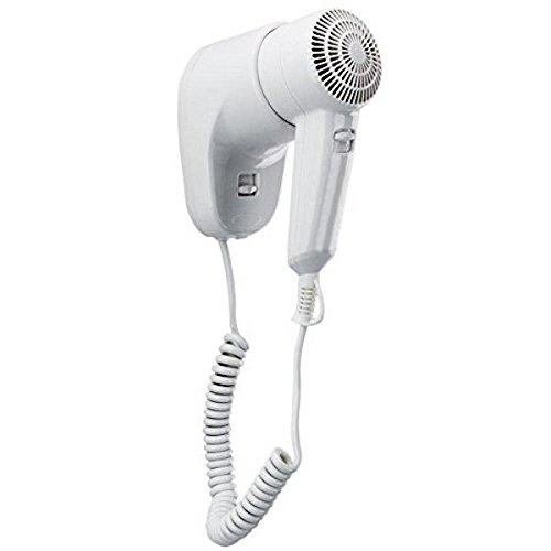 DOBO® asciugacapelli da parete muro albergo hotel bagno alberghi spogliatoio phon phono fono capelli hair style presa dritta