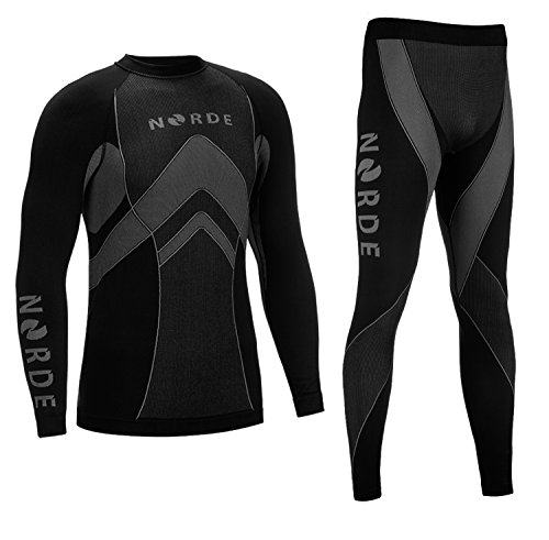 Norde Thermo-tech functioneel ondergoed voor heren, thermo-actief, ademend, basislaag, set, outdoor, wielrennen…