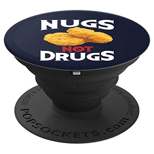 Nugs Not Drugs Art | Cool I Love Nuggets Design Gift - PopSockets Grip and Stand for Phones and Tablets]()
