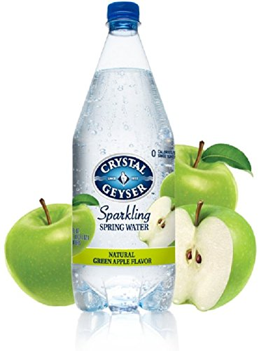 Crystal Geyser Sparkling Water Green Apple Flavor 1.25 Liters( Case of 12)