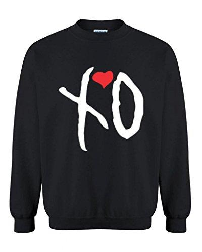 Artix XO Hugs and Kisses Unisex Crewneck Couples Sweatshirts Small Black