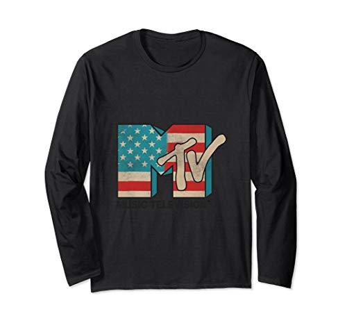 MTV American Flag Logos Long-Sleeve T-Shirt
