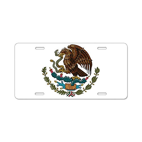 CafePress - Mexican Coat of Arms Aluminum License Plate - Aluminum License Plate, Front License Plate, Vanity Tag ()