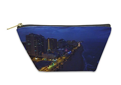 Gear New Accessory Zipper Pouch, Fort Lauderdale Night View Florida, Small, - Florida In Stores Fort Lauderdale