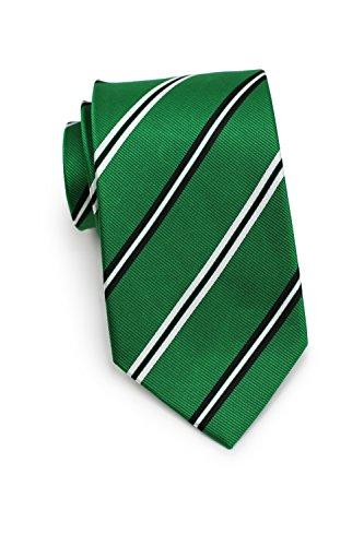 Bows-N-Ties Men's Necktie Thin Repp Striped Silk Satin Tie 3.25 Inches (Emerald Green) ()