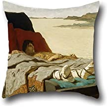 The Oil Painting Evariste Luminais - The Sons Of Clovis II Throw Pillow Covers Of ,16 X 16 Inches / 40 By 40 Cm Decoration,gift For Gril Friend,car Seat,boy Friend,her,car,family (twice Sides)
