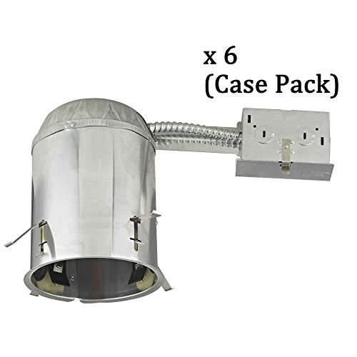 5'' Remodel LED Recessed Can Light - IC Airtight Rated - Case Pack of 6 by Dolan Designs