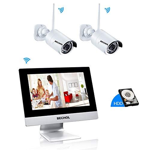 Bechol 1080P Wireless Security Surveillance Camera System, 10.1