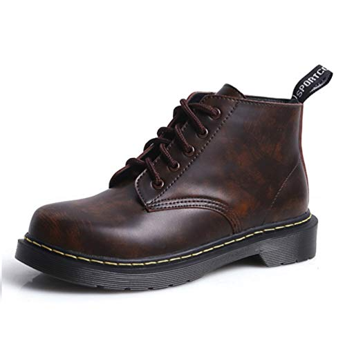 Toe 1460 Booties Runde Classic Stiefeletten velvet up Brown Martens Mode Lase Boot Damen plus Combat Damen Leder LIANGXIE Stiefel ApznqOE