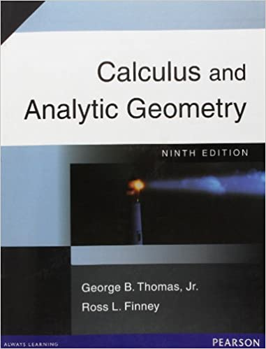 Calculus And Analytic Geometry By Thomas And Finney Ebook