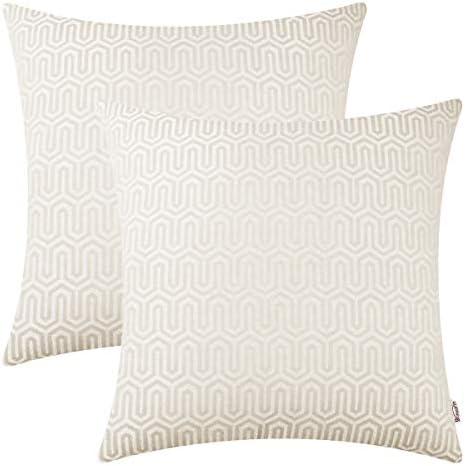 BRAWARM Pillow Jacquard Chevron Geometric