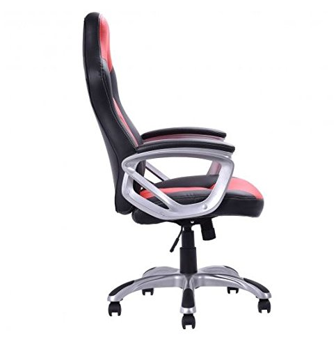 41QCKDfVbIL - MD-Group-Gaming-Chair-High-Back-Racing-Style-Bucket-Seat-Red-PU-Fade-resistant-Adjustable-Seat