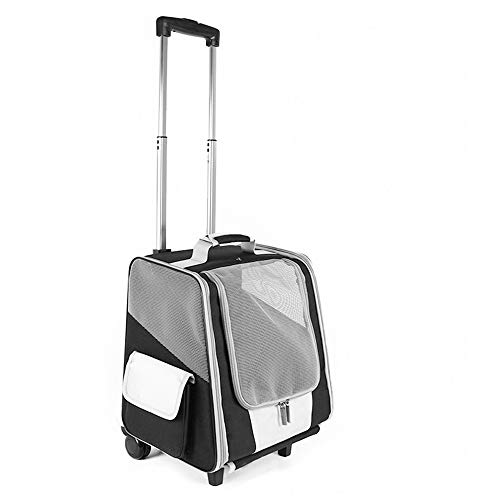 66ed5d54ce27 OOFAY Pet Trolley case Pet Travel Backpack Bag Dog Cat Rolling Backpack  with Integrated Trolley and Telescopic Handle Portable Stroller Wheel  Luggage ...
