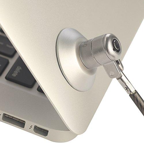 tableta port/átil MacBook y todos los dem/ás port/átiles y ordenadores port/átiles hardware de seguridad de bloqueo de cable cable antirrobo para iPad Cable de bloqueo para ordenador port/átil