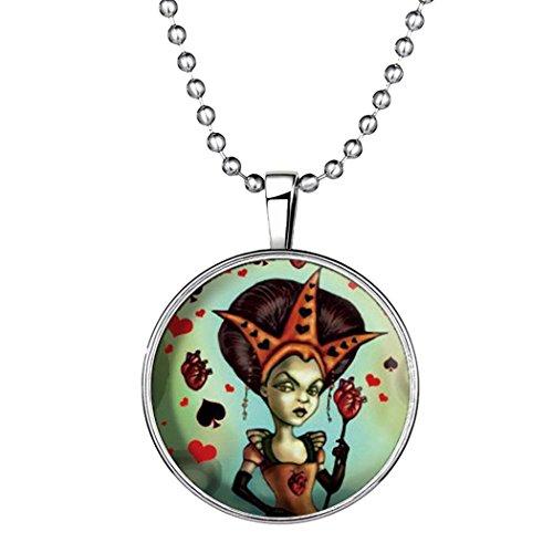 [Time Pawnshop Original Design Queen Halloween Luminous Pendant Necklace] (Settlers Of Catan Costumes)