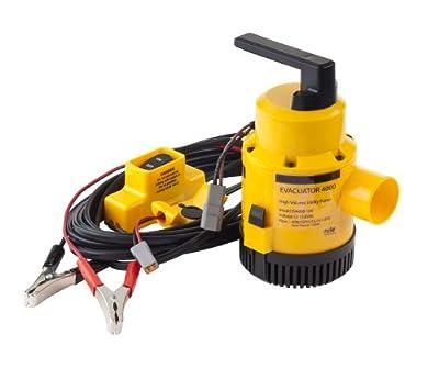 Rule Evacuator 4000-High Capacity Submersible 12 Volt DC Utility Pump (Yellow/Black)