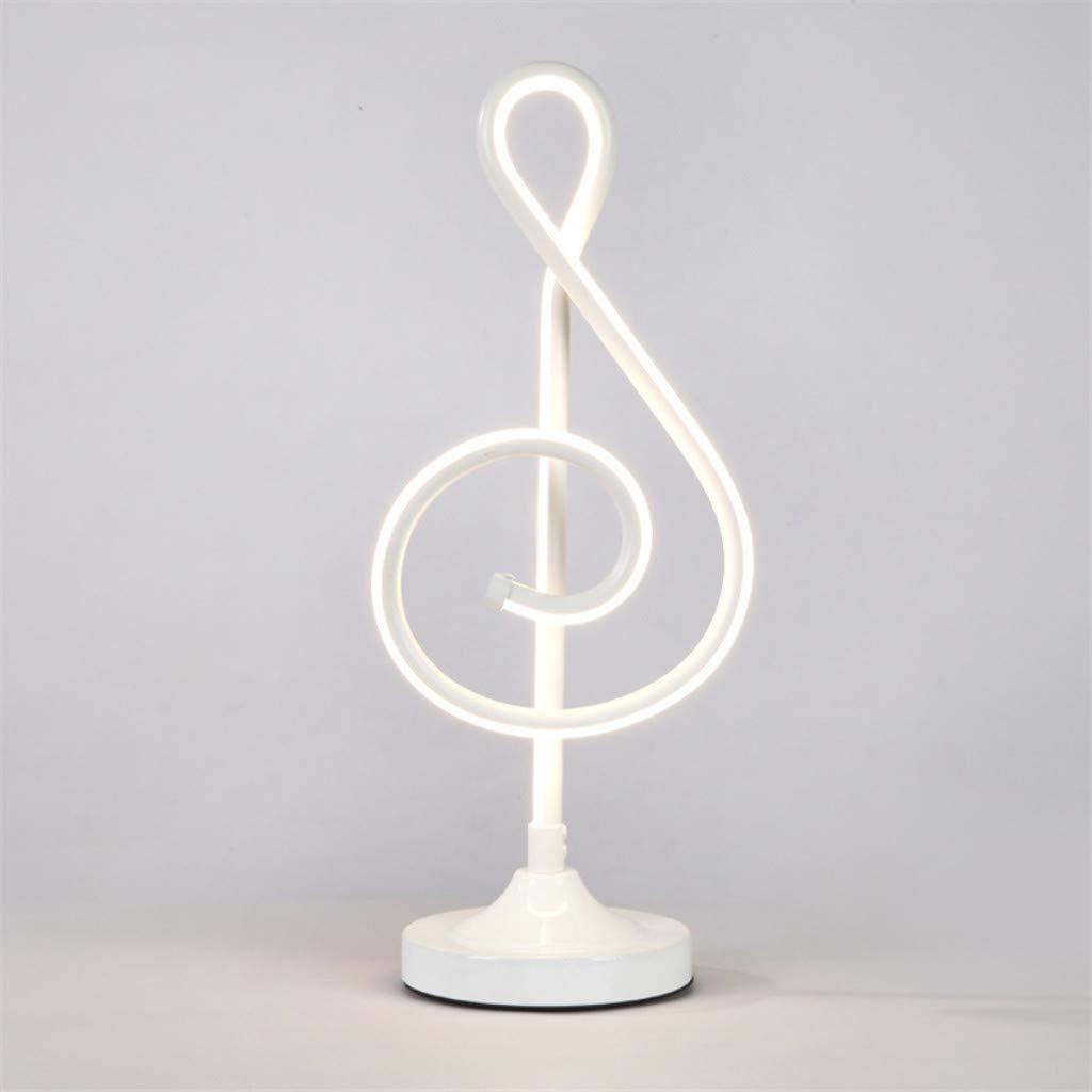 HXMSXROMID Lámpara de Mesa LED Nota Musical Cabecera Luz de Escritorio 3 Modos de Iluminación Diseño Minimalista Moderno Acrílico Lámpara de Sombra Eye-Friendly Luces Nocturnas para Habitación Sala