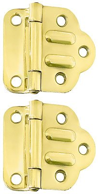 "Solid Brass McDougal Cabinet Hinges - 1 3/4"" x 2"""